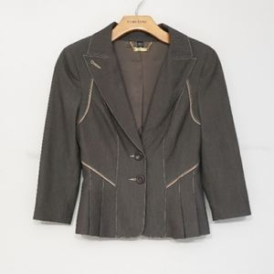 Bebe Two Button Pleated Blazer